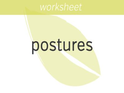 postures for mindfulness practice