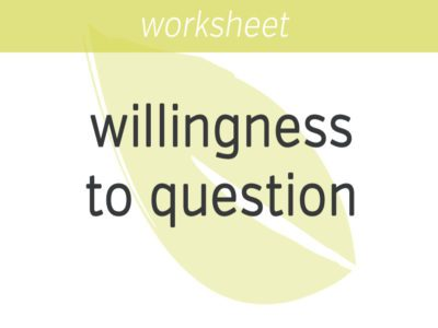 Willingness to Question