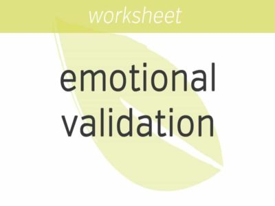 Emotional Validation