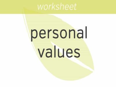 Identifying Personal Values