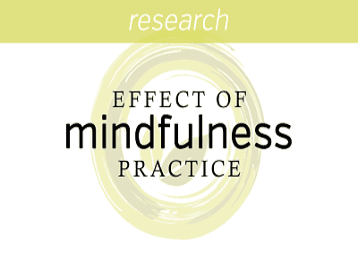 Investigating the effect of mindfulness practice