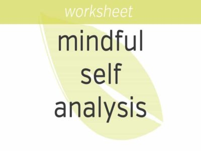 Mindful Self Analysis