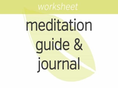Mindfulness Meditation Guide and Journal