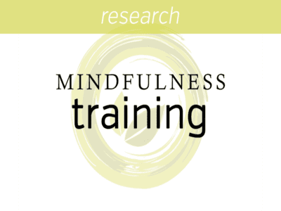Mindfulness Training as a Clinical Intervention