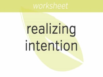 Realizing Intention