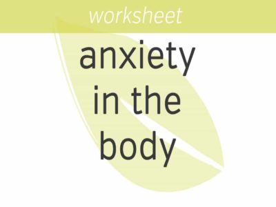 Sensing and Rating Anxiety in the Body