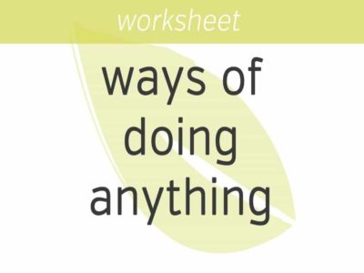 Two Ways of Doing Anything