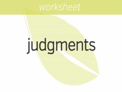 Working with Judgments
