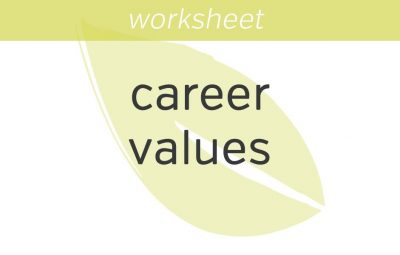 appraising my career values