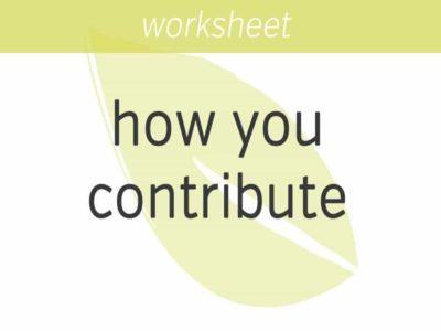 appreciating how you contribute