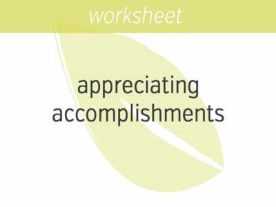 appreciating your accomplishments