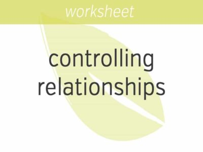 are you controlling relationships