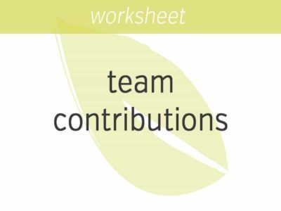 assessing contributions to your team