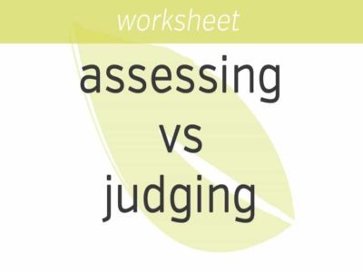 assessing vs judging others
