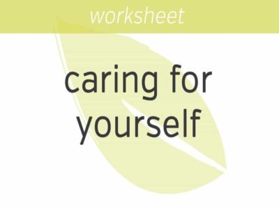 caring for yourself in an integrated way
