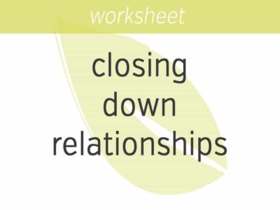 closing down in relationships