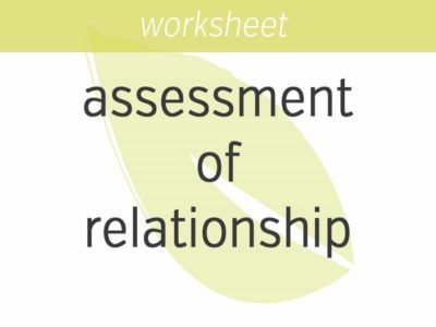 daily assessment of relationship