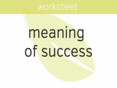 defining your meaning of success