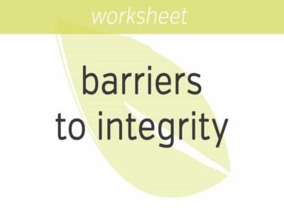 dissolving our barriers to integrity
