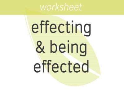 effecting and being effected