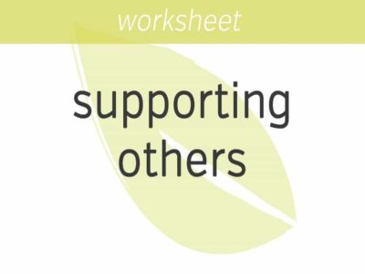 feeling good about supporting others