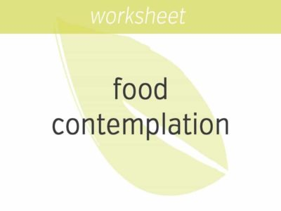 food contemplation for kids