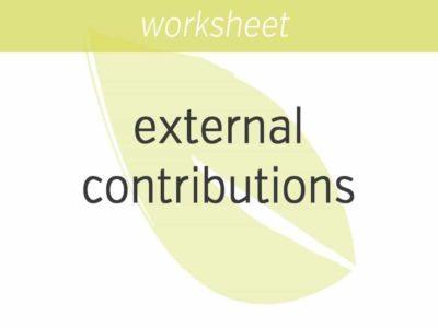 gauging external contributions