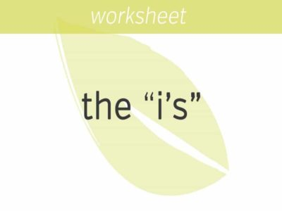 """getting to know the """"i's"""" you identify with"""