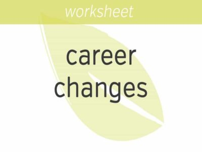 how to make important career changes