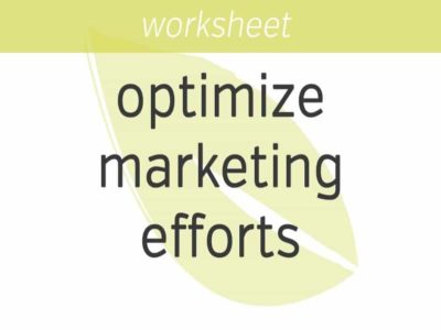 how to optimize your marketing efforts