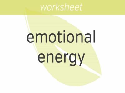 investing your emotional energy