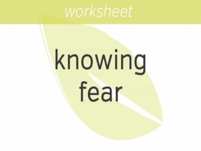 knowing fear