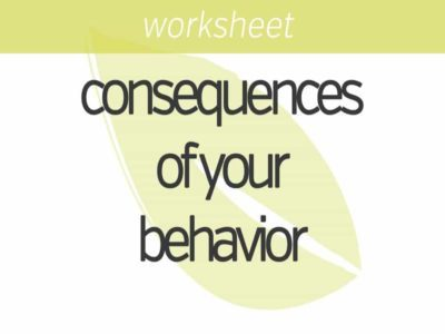 knowing the consequences of your behavior