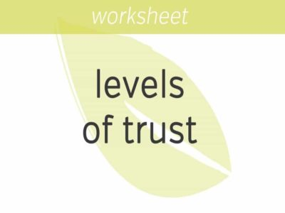 knowing your levels of trust