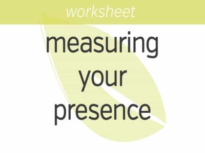 measuring your presence