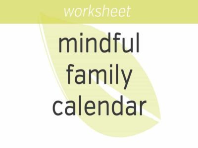 mindful family calendar