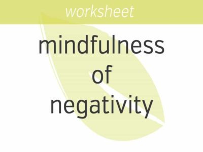 mindfulness of negativity