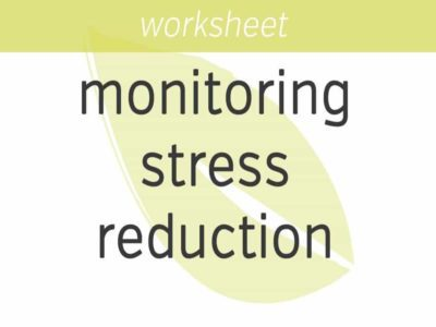 monitoring stress reduction