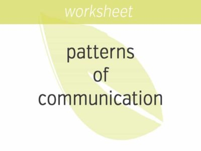 noticing your patterns of communication