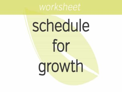 optimizing your schedule for growth