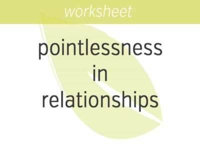 perceiving pointlessness in relationships