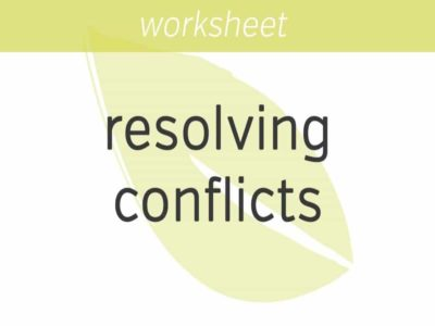 practicing the art of resolving conflicts
