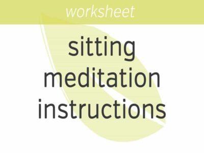 sitting meditation instructions