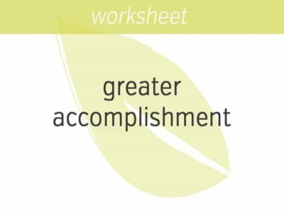 six questions for greater accomplishment