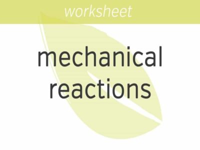 sizing up your mechanical reactions