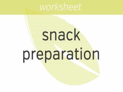 snack preparation exercise