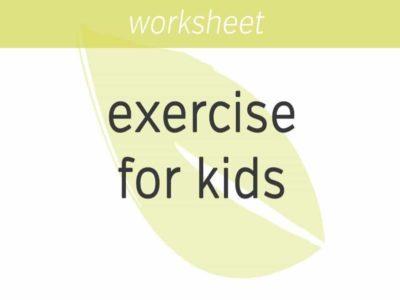 snow globe exercise for kids