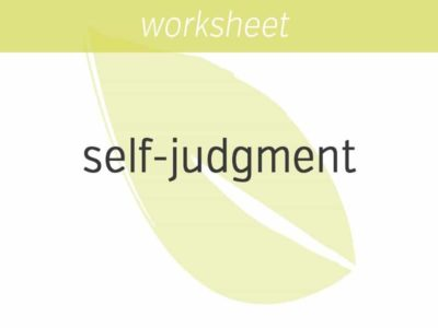 sourcing where your self judgment comes from