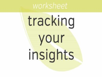 tracking your insights