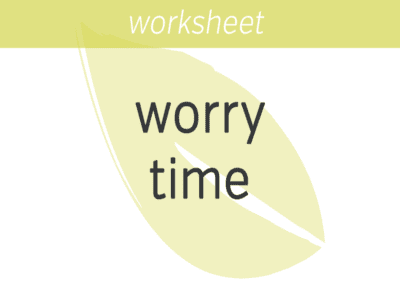 Scheduling Worry Time